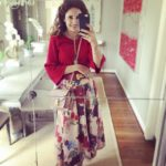 Red Flowers & Pink Midi for Spring