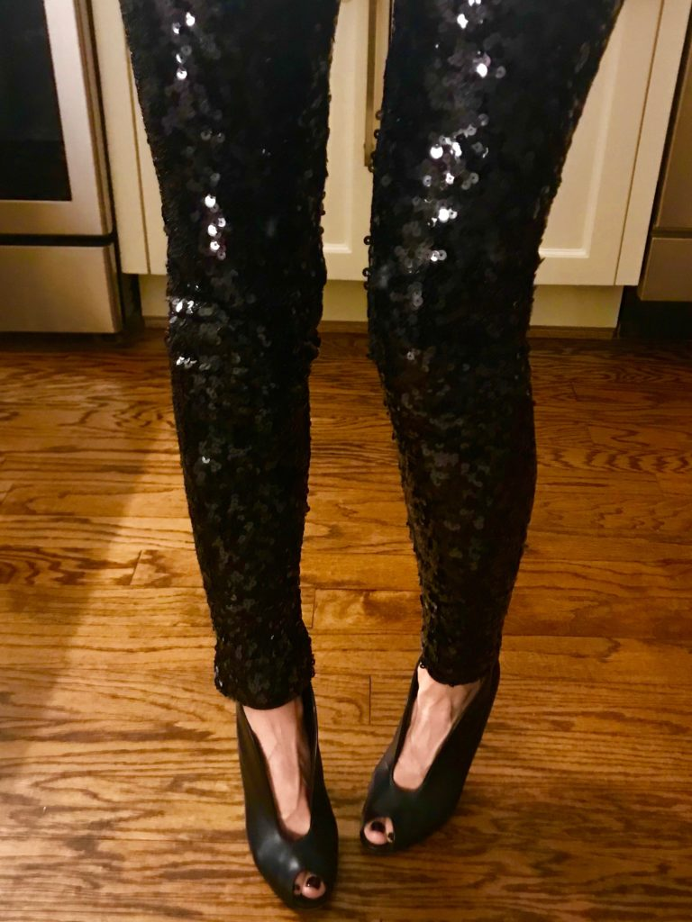 black sequin leggings how to wear sequin leggings petite blogger houston blogger